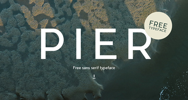 1.Free-Font-Of-The-Day-Pier