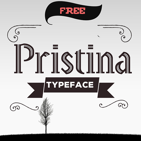1.Free-Font-Of-The-Day-Pristina