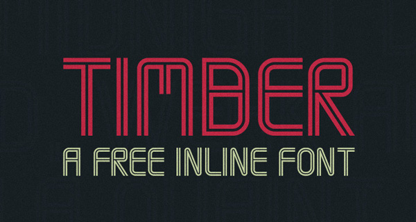 1.Free-Font-Of-The-Day-Timber