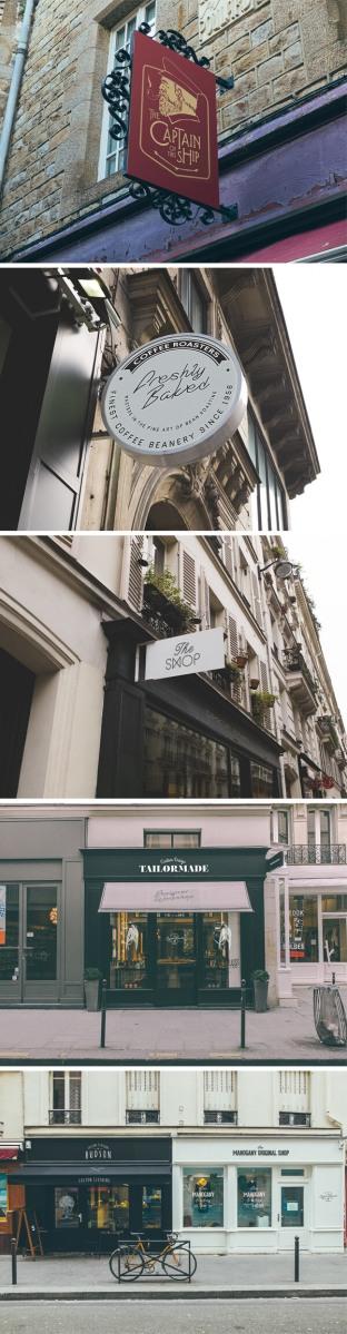 5 Mockups de fachadas