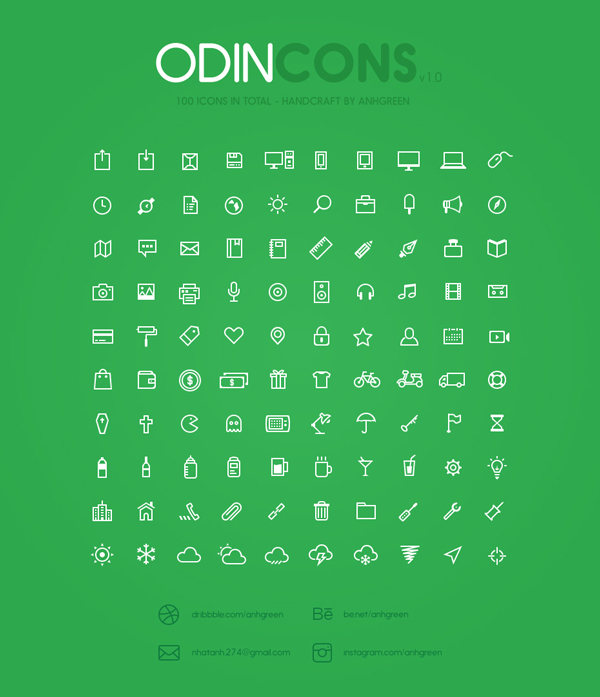 Iconos outlined gratis