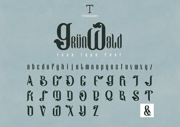 Grünwald - Tipografía decorativa GRATUITA