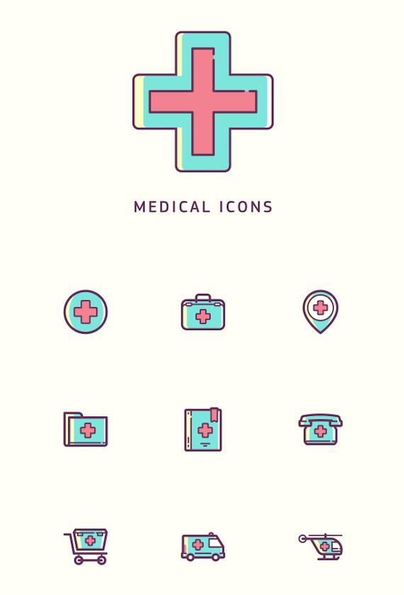 Iconos para clínicas médicas