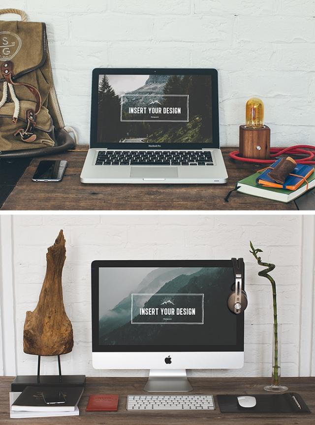 Mockup iMac y MacBook pro
