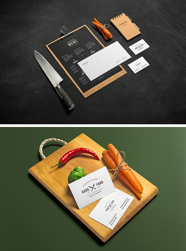 Mockup para restaurantes