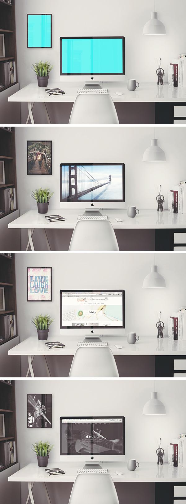 Mockup iMac retina
