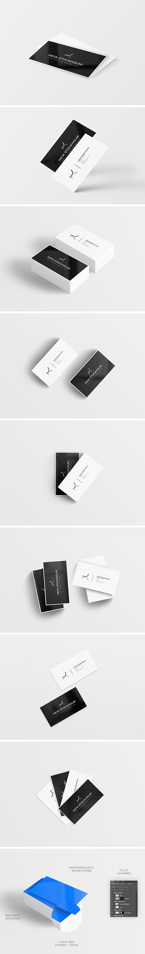 Mockup de tarjetas visita GRATIS