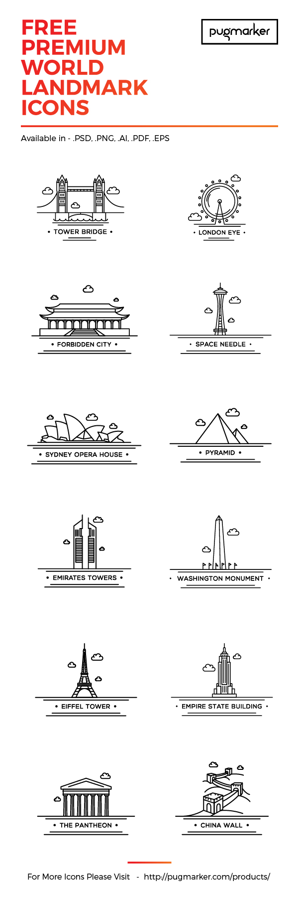 Iconos de ciudades gratis