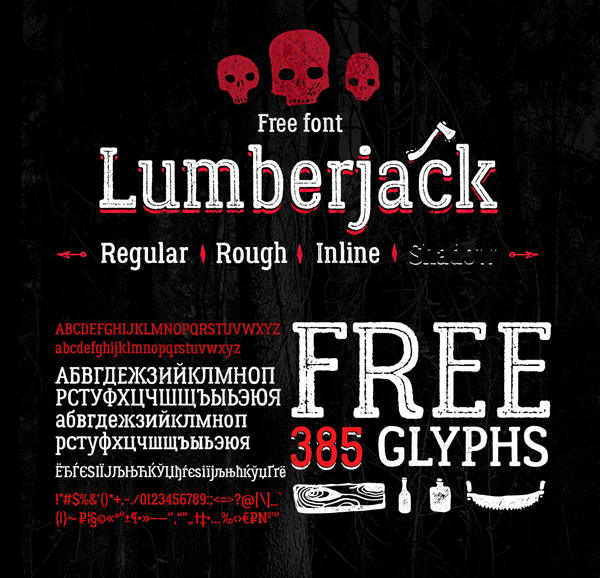 Fresh-Free-Font-Of-The-Day-Lumberjack