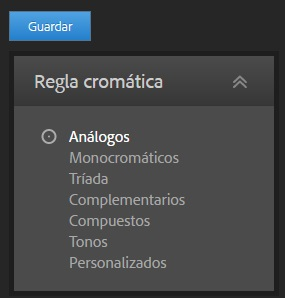 Adobe color cc 2 reglas cromáticas