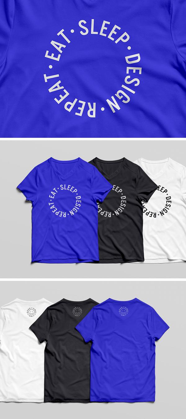 Mockup para camisetas en psd