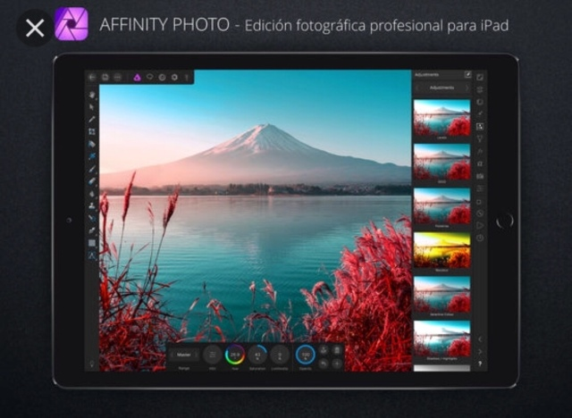 Captura de Affinity Photo for iPad